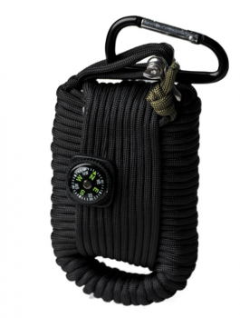 Paracord Survival Kit Large schwarz